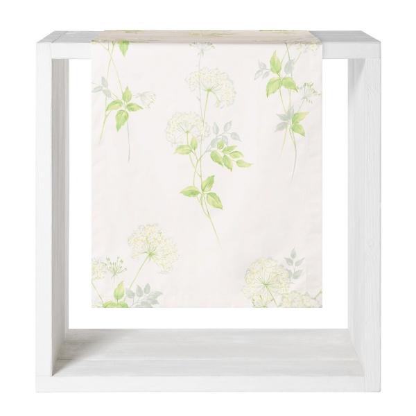 Tischläufer Flora, Alloverdruck mit Schafgarben auf 100% Baumwolle, Größe 50x140 cm