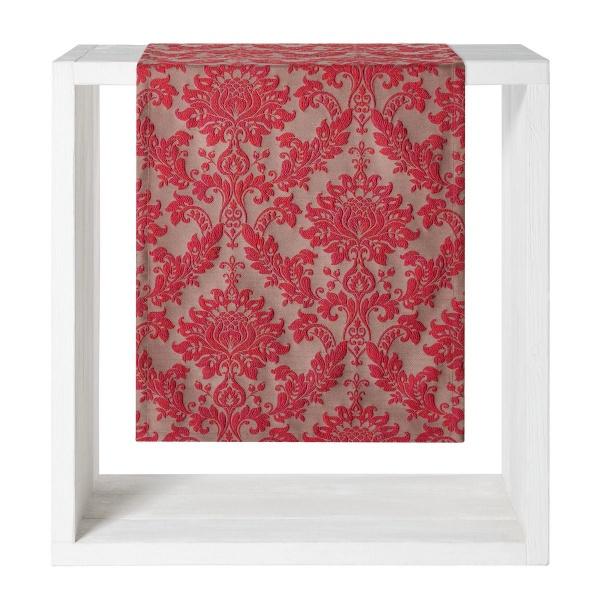 Tischwäsche Velasco, Muster: klassische Ornamente, Farbe rot, verschiedene Größen