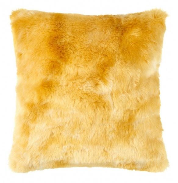 Kissenhülle Felon, Fellimitat, Farbe 371 honig, verschiedene Größen