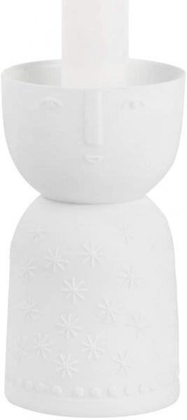 Lichtgestalt Kerzenhalter, Porzellan weiß, verschiedene Muster und Größen
