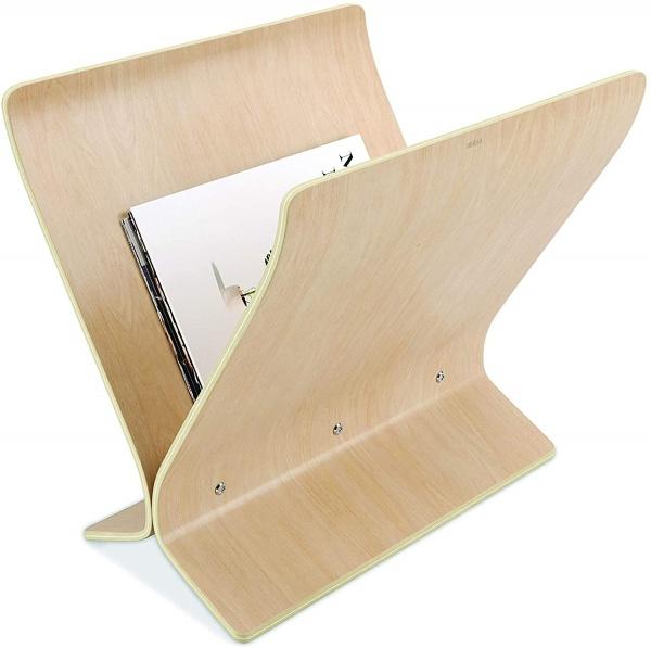 Arling freistehender Zeitungsständer und Schallplattenhalter aus Holz, verschiedene Farben
