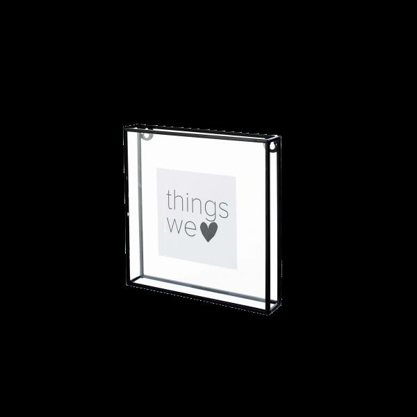 Photo Frame Metall schwarz, Bilderrahmen zum Stellen und Hängen, Metall schwarz, verschiedene Größen