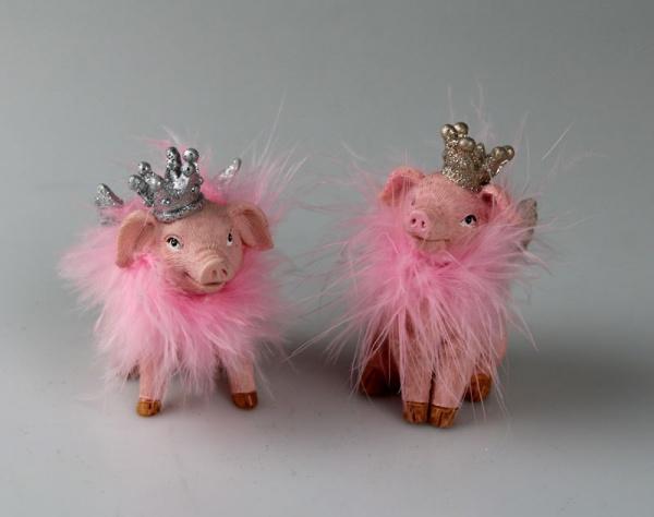 Miss Piggy, 2er Set Schweinchen, Größe je 6x8x10 cm