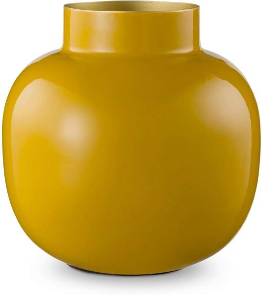 Vase Metall Round farbig emailliert, verschiedene Farben, Höhe 25 cm