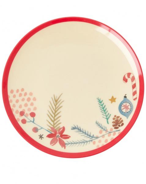 Christmas Melamine Dessert Plate, Größe 16 cm, verschiedene Muster
