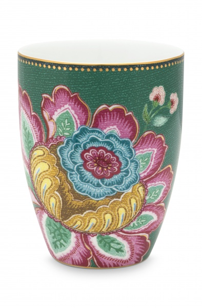 PIP Trinkbecher / Zahnputzbecher, Muster Jambo Flower, Fassungsvermögen 300 ml, verschiedene Farben