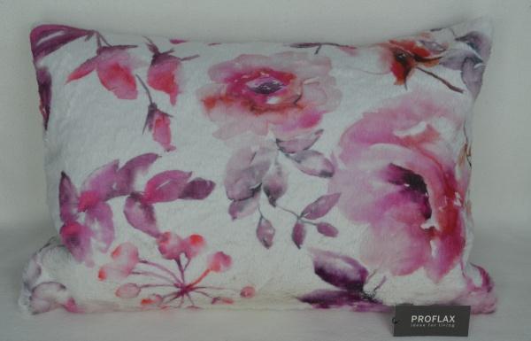 Kissenhülle Ira, supersofte flauschige Kissenhülle, Größe 40x60 cm, Farbe azalee