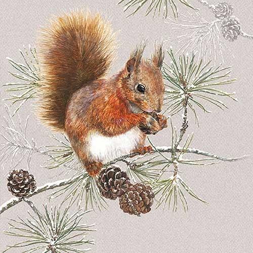 Servietten Winter / Weihnachten, 33x33 cm