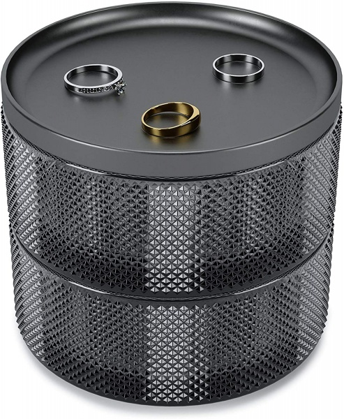 Tesora Box Glass Smoke, Schmuckbox 3 teilig, Farbe Smoke