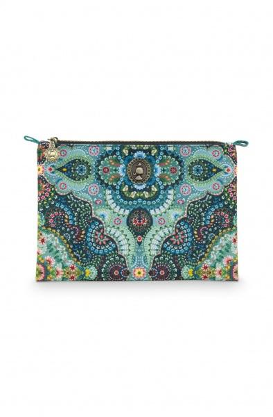 PIP Flache Kosmetiktasche, medium Größe 24x15,5 cm, Muster Moon Delight, verschiedene Farben