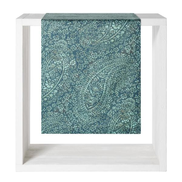 Tischläufer Orvieto, Farbe petrol, Größe 50x160 cm, 100% Baumwolle