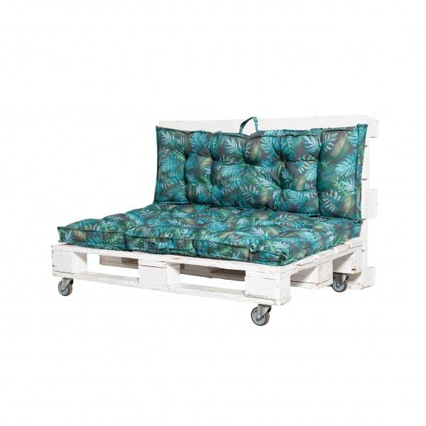 Pallettenauflagen Outdoor, Sitzkissen 80 x 120 x 8 cm und Rückenkissen 40 x120 x 8 cm, verschiedene