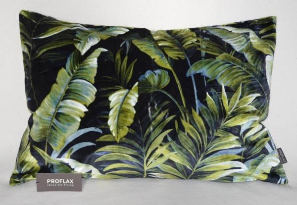 Kissenhülle Luino, Edler Samt mit Blättermotiven, Material 68% CV, 32% BW, verschiedene Größen