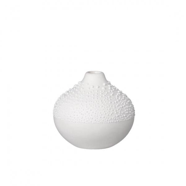 Weiße Perlenvase