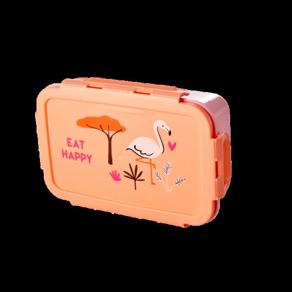 Lunchbox / Brotdose mit herausnehmbaren Einlagefächern, Muster Jungle Animal Print, verschiedene Far
