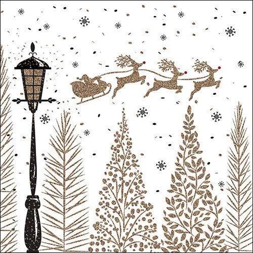 Serviette Herbst/ Winter/ Weihnachten 33 x 33 cm - verschiedene Muster -