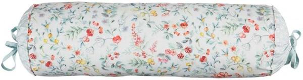 Nackenrolle komplett gefüllt, Muster Midnight Garden white, Größe 22x70 cm