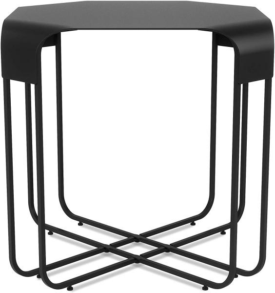 Graph Beistelltisch, Eisen pulverbeschichtet schwarz, kratzfest, Größe:51 x 51 x 52 cm