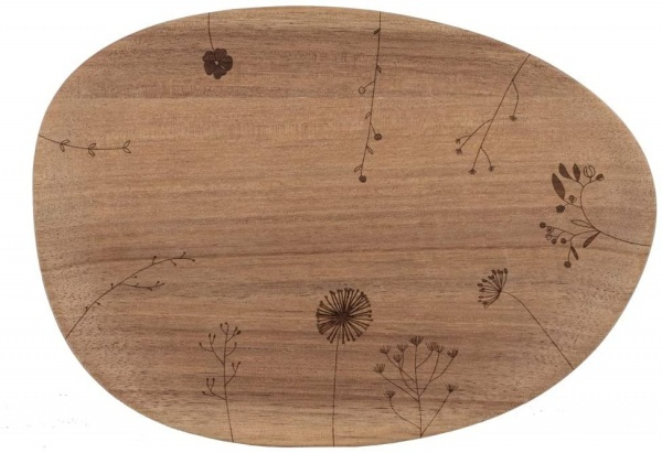 Holztablett Wunderland Blumenwiese, Größe 20,5x14,5,1,5 cm