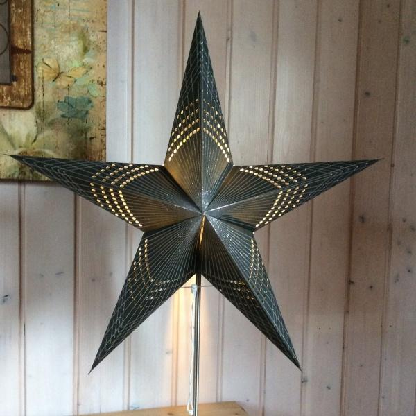 Papierstern faltbar - Weihnachtsstern, Größe ca. 60 cm, verschiedene Muster
