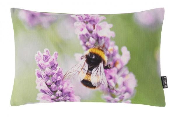 Kissenhülle Honey, Fotodigitaldruck Hummel am Lavendelzweig, Größe 27x43 cm