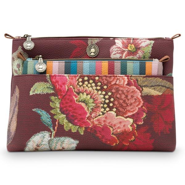 Cosmetic Bag 2er Set, Muster Poppy Stitch, Größe: 26x18x7.5cm / 22x13x1cm, verschiedene Farben