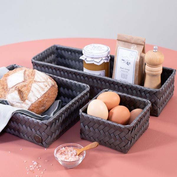 Basket Fit Long Aufbewahrungskorb länglich schmal, Größe 36x12x7 cm, verschiedene Farben