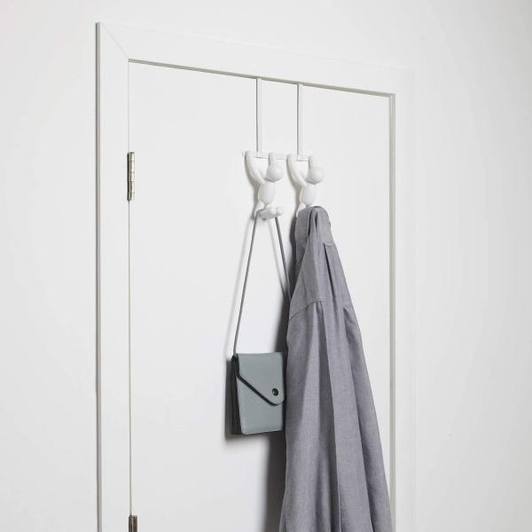 Buddy Türgarderobe mit Doppelhaken, Plastik, verschiedene Farben, Größe 22 x 6,x 32 cm