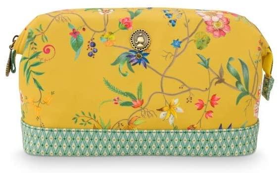 Kosmetiktasche Medium Petites Fleurs Yellow, Größe ca. 31x18x11 cm