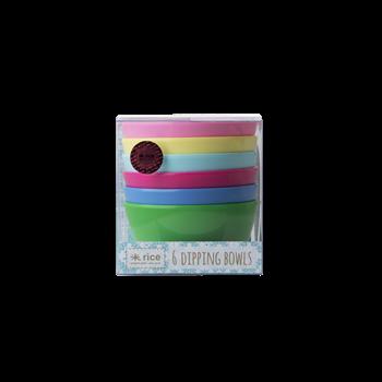 6-teiliges Set Dipschalen aus Melamin, Classic Colours