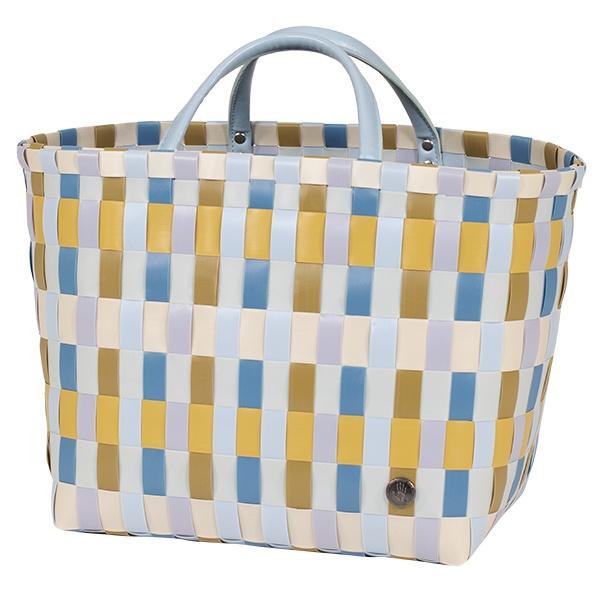 Shopper Multitone, neues 3farbiges Geflecht, Größe 27 x30x20 cm, mit kurzen Tragegriffen,