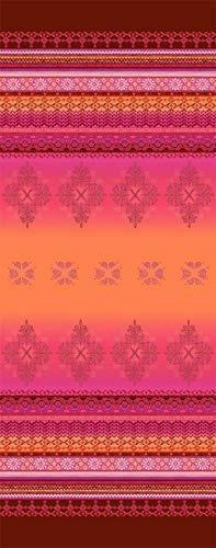 Tischläufer 50x150 cm, Muster Olbia R1 rot, Farbspiel rot / pink / orange