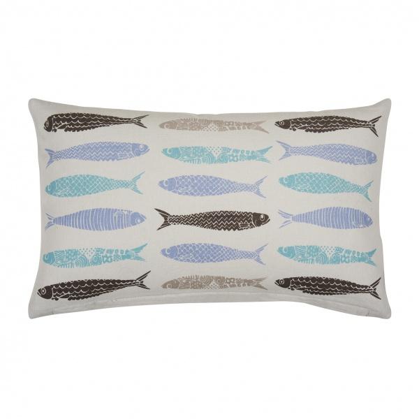 Kissenhülle FISH, Farbe grey, Größe 30x50 cm