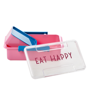Lunchbox in Pink, 2-teiliges Set