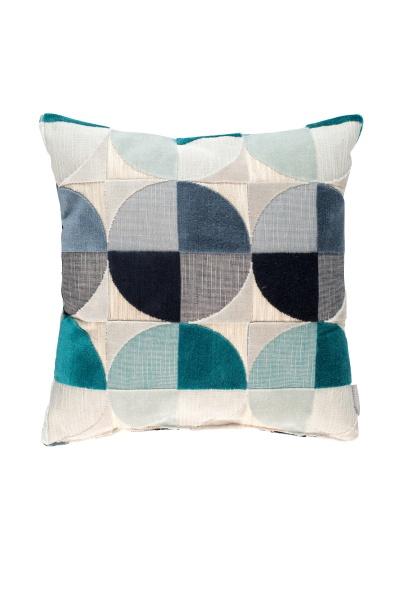 Kissen Club inklusiver Füllung, geometrisches Muster, Größe 45x45 cm, verschiedene Farben
