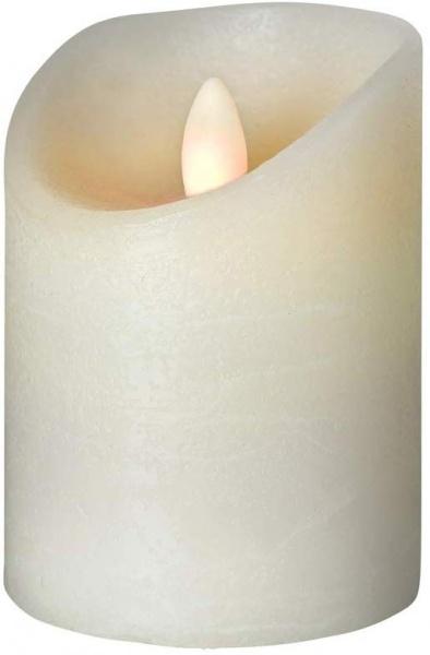 LED Kerze Durchmesser 7,5 cm, elfenbein