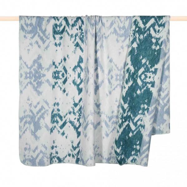 IKAT Decke, trendiger Ethno-Style in versch. Farben, Größe 150x200 cm, Material 65% BW 30% PA