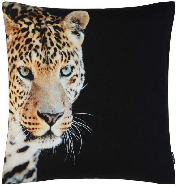 Kissenhülle Aramis, Fotodruck Leopard, Größe 50 x 50 cm