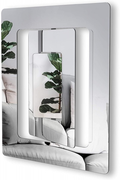 Mirror/ Spiegel Echo, Klarglas, Größe 54 x 63.8 x 4.8 cm