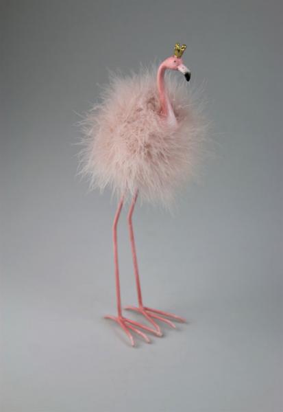 Flamingo stehend, rose Federn, Größe 7,5x7,5 cm