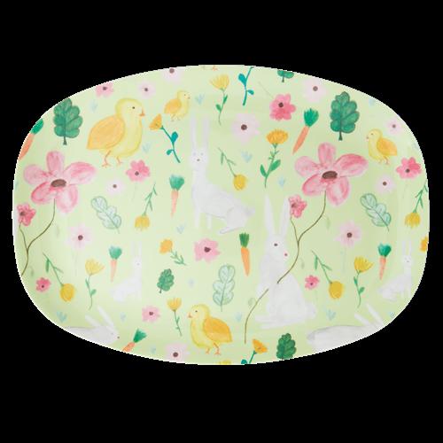 Teller/ Platte, Servierplatte, verschiedene Muster, Melamin, Größe 33x22 cm
