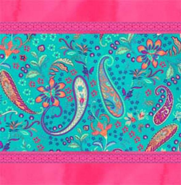 Kissenhülle Burano S1, Farbspiel türkis / Pink, 100% Baumwolle Panama-Gewebe, verschiedene Größen