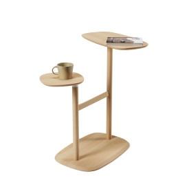 Swivo Side Table - Beistelltisch, Material Birke natur oder walnuss, mit schwenkbarer Tischplatten