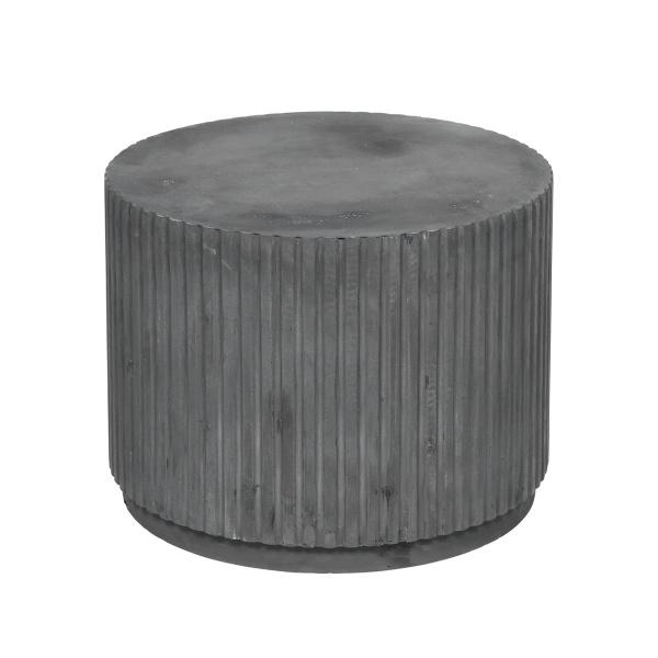 Beistelltisch Podium Rillo, aus Faserzement, Größe D56 x H 42 cm, verschiedene Farben
