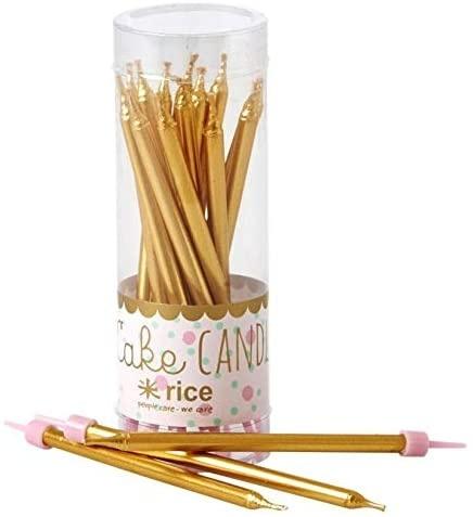 Cake Candle, Tortenkerzen, Farbe gold, Set 16 Stück