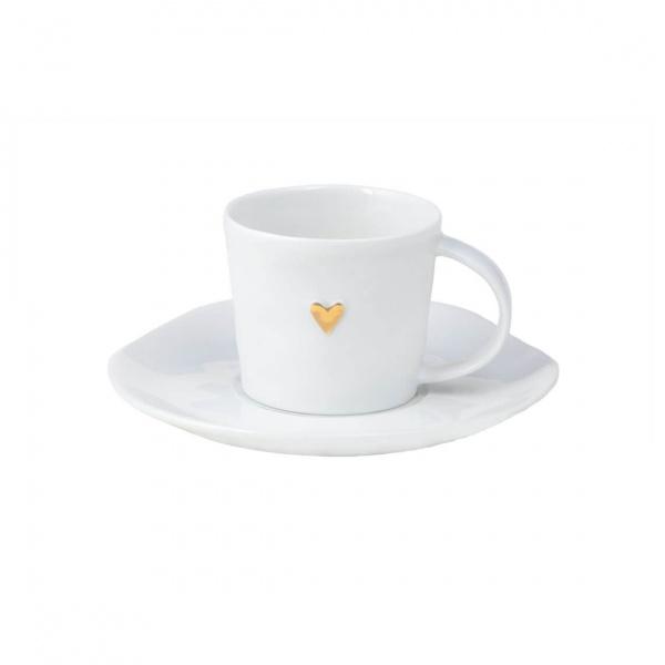 Espressotasse Porzellan, Verschiedene Muster/ Sprüche