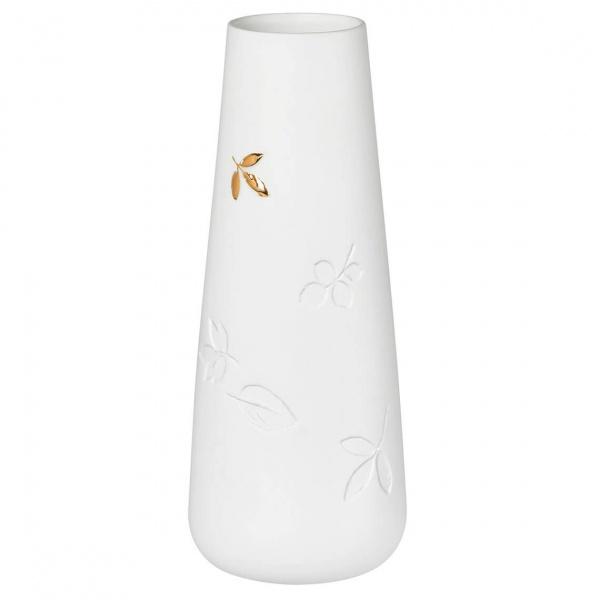 Porzellangeschichten Vase goldenes Blatt