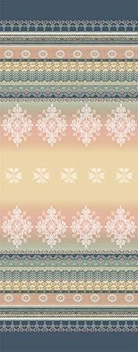 Tischläufer 50x150 cm, Muster Olbia 41, Farbspiel beige / grau / blau