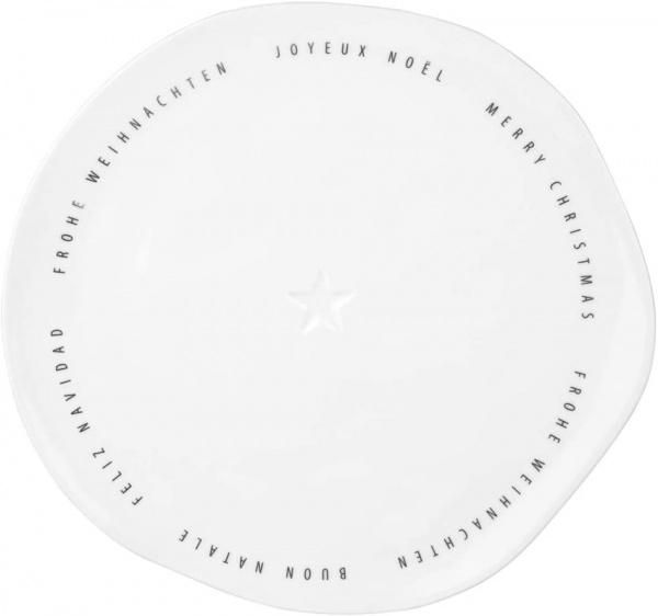 Teller Frohe Weihnachten , Mehrsprachig, Durchmesser 22 cm, Serie Dining