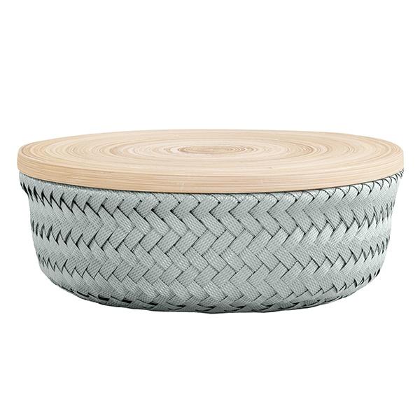 Wonder Basket, Flechtkorb mit Bambusdeckel, Farbe eukalyptus, Verschiedene Größen